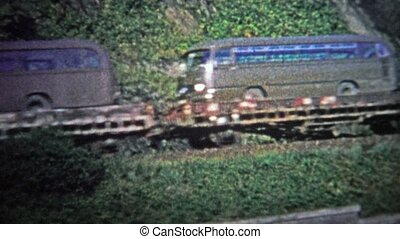 COLOGNE, GERMANY - 1966: Military train - Unique vintage 8mm...