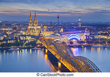 Cologne, Germany. - Image of Cologne with Cologne Cathedral ...