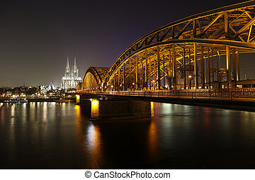 Cologne Germany nightscape