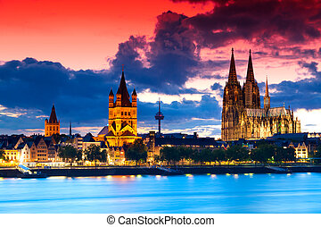 Cologne, Germany - The skyline of the German city Cologne...