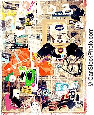 Cologne /K?ln Streetart Collage - Streetart Collage aus...