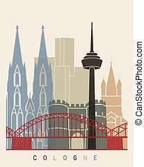 Cologne skyline poster