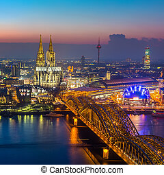 cologne, skymning