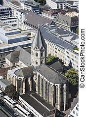 Cologne St. Andreas Church, Germany - High angle view to the...