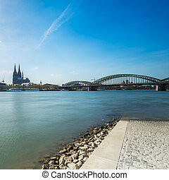 cologne view from the Rhine Boulevard - A view of cologne...