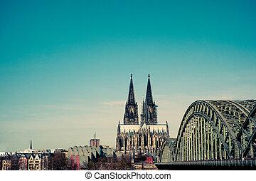 cologne(köln)cathedral, allemagne