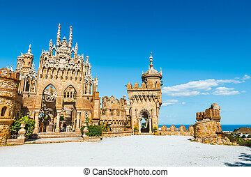 Colomares castle in Benalmadena, dedicated of Christopher Columbus, Spain