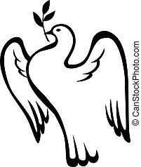 colombe, branche