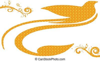 colombe, oiseau, symbole, mouche