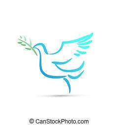 colombe paix, vecteur
