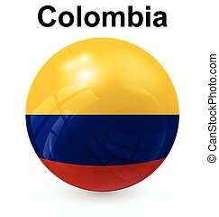 colombia ball flag - colombia official flag, button ball