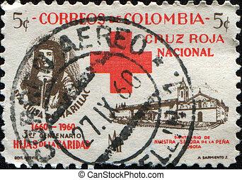 St. Luisa de Marillac and Sanctuary - COLOMBIA - CIRCA 1960...