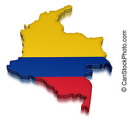 Colombia (clipping path included)