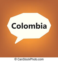Colombia concept- vector illustration