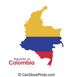 Colombia design over white background, vector illustration