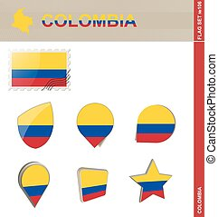 Colombia Flag Set, Flag Set