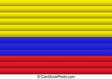 Colombia Flag. Vector Illustration.