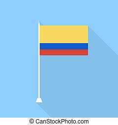 Colombia Flag. Vector illustration .