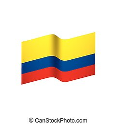 Colombia flag, vector illustration