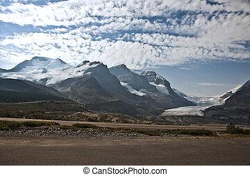 colombia, icefield, -, jaspe parque nacional, -, alberta canadá