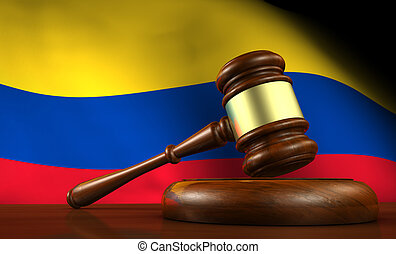 Colombia Law Legal System Concept