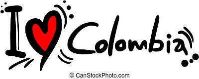 Colombia love - Creative design of colombia love