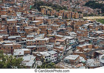 colombia, medellin, casas, comuna, colinas, 13