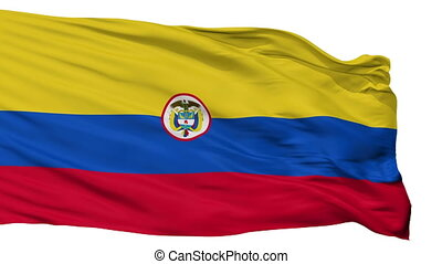 Colombia Naval Ensign Flag Isolated Seamless Loop - Naval...