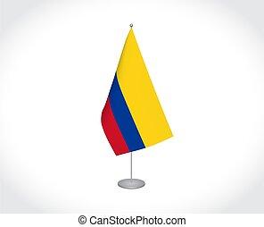 colombia, plano de fondo, bandera, blanco