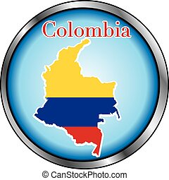 Colombia Round Button