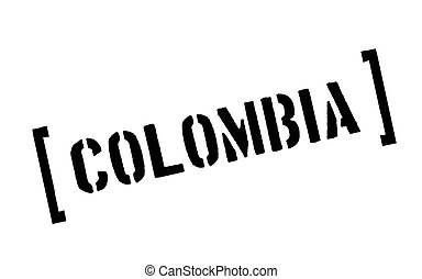Colombia typographic stamp
