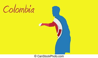 Colombia world cup 2014 animation with player