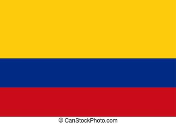 Colombian flag, flat layout, vector illustration