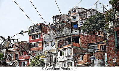 Colombian Houses And Neighborhood