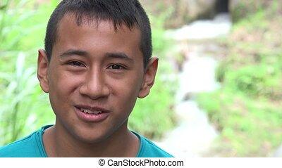 Colombian Teen Boy Outdoors