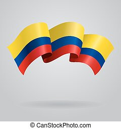 Colombian waving Flag. Vector illustration
