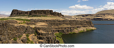 colombie, collines, parc washington, état, butte, horsethief