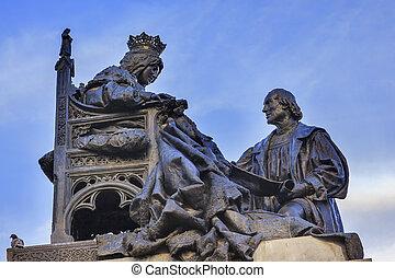Colombus, isabella, Granada, concordar, Contrato, 1492,...