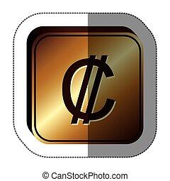 Colon currency symbol icon image, vector illustration