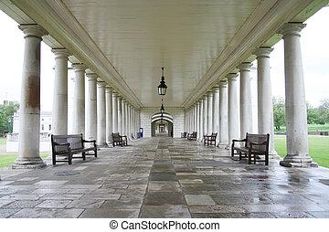 Colonade, greenwich - Colonade, Queen\\\'s house, Greenwich