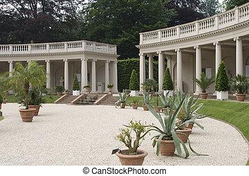 Colonades in garden