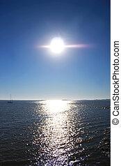 colonia, 太陽, 上に, del, サクラメント