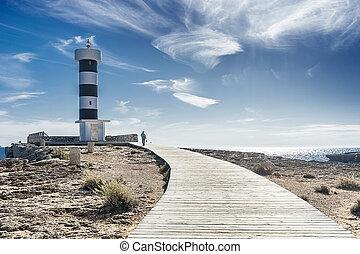 colonia san jordi lighthouse in majorca