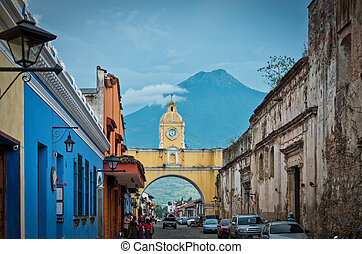 Colonial arch - Street view of the Iconic Colonial Arch in...