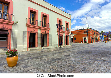 Colonial Architecture in Downtown Oaxaca