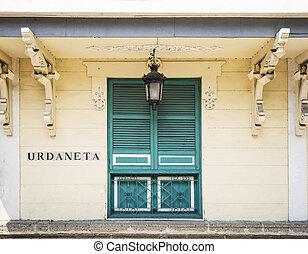 colonial, arquitectura, en, intramuros, pueblo viejo, de,...