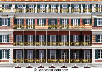 colonial, balcones