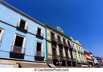 Colonial Balconies in Puebla