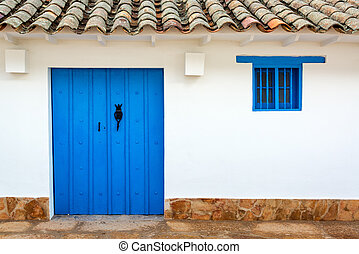 Colonial Building and Blue Door