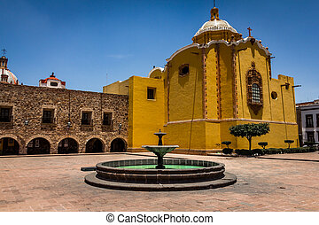 Colonial Church - Aranzazu's plaza in San Luis Potosi,...
